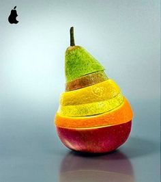 Colour-pear fruit