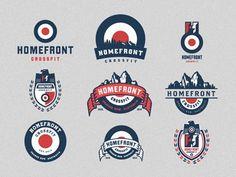 Logo / icons / Badges / Homefront_crossfit_logo_emblem_options — Designspiration