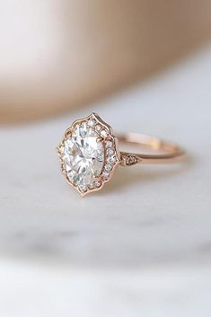 This Morganite engagement ring women unique Vintage oval cut moissanite rose gold wedding Bridal Jewelry birthstone Anniversary gift for her is just one of the custom, handmade pieces you'll find in our engagement rings shops. Budget Friendly Engagement Rings, Engagement Rings Under 1000, Vintage Gold Engagement Rings, Cheap Engagement Rings, Perfect Engagement Ring, Designer Engagement Rings, Rose Gold Engagement Ring, Halo Engagement, Engagement Ideas