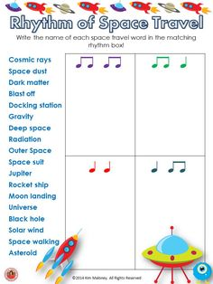 12 RHYTHM worksheets!! Students are to match the name of the given words to the correct rhythm. Excellent for increasing vocabulary too!