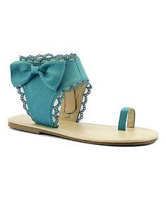 Mint Toe Ring Sandal