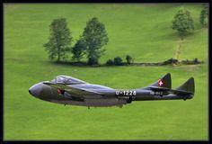 De Havilland Vampire Military Jets, Military Aircraft, De Havilland Vampire, Post War Era, History Online, Meteorology, Nose Art, Aviation Art, Private Jet