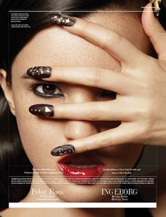Hello Nail Art! Fleury Rose shot with Peter Rosa for Sheer Magazine!