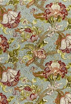 Ariella Jacobean ROBIN'S Egg Fabric by Schumacher Pattern# 1319001 Buy this product plus Samples always available online. Quality direct from manufacturer. Family owned since 1971 Drapery Fabric, Linen Fabric, Chair Fabric, Fabric Patterns, Print Patterns, Sewing Patterns, Chintz Fabric, Thing 1, Robins Egg