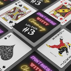 Life Path #3 Poker Cards - 2.47 x 3.47 / White / Semi Glossy