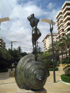 """Nude ascending a staircase""By Salvador Dali Alameda Park, Marbella, Spain Marbella Old Town, Marbella Spain, Alameda Park, Sculpture Art, Sculptures, World Photography, Salvador Dali, Andalusia, Moorish"