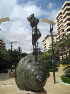"""Nude ascending a staircase""By Salvador Dali  Alameda Park, Marbella, Spain"
