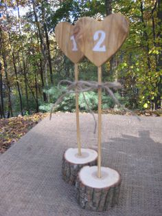 Rustic Wedding Table Numbers - to go with the escort cards