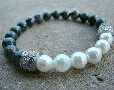 Gemstone Bracelet Morganite Bracelet Stretch by BeJeweledByCandi