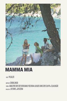 mamma mia by priya - 5016 Wallpaper Iconic Movie Posters, Minimal Movie Posters, Minimal Poster, Movie Poster Art, Iconic Movies, Poster Wall, Good Movies, Poster Prints, Film Polaroid