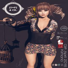 Free Kimono For SL Mesh Bodies. Second Life Freebies and Subscriber Gifts on nessmarket. The Kimono works with Belleza, Maitreya and Slink bodies.