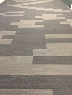 Installation of interface Urban Retreat carpet tile planks.