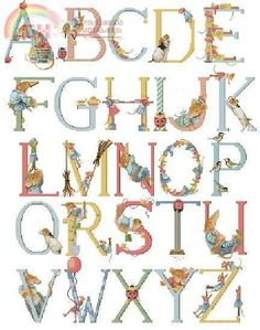 Vera The Mouse Alphabet ~ Marjolein Bastin - I have found my embroidery set of this back,SO happy! Marjolein Bastin, Abc Alphabet, Nature Artists, Dutch Artists, Beatrix Potter, Letters And Numbers, Arabesque, Illustration Art, Cross Stitch