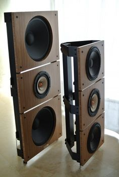 Open Baffle Self Assembly Speakers from PureAudioProject #audio #speakers #music