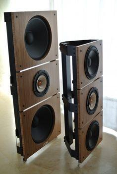 PureAudioProject Trio15 TB and Trio10 TB Open Baffle Speakers