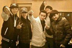 Kyungsoo, Chanyeol, Baek and Suho during Teaser-Era