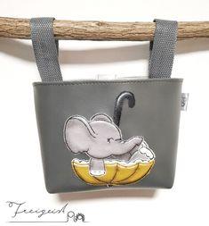 Lenkertasche Elefant :: Freigeist - kreatives Handwerk Wallet, Baby, Fashion, Free Spirit, Creative Crafts, Tricycle, Small Bags, Kids Clothes, Elephants
