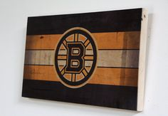 Decorative Wooden Plaque with Boston Bruins Logo  by WOODSNACKS, $30.00