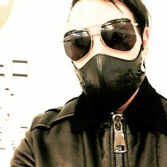 Marilyn Manson arriving in Tokyo