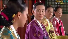 Yi San korean drama - Seong Yeon, Queen, Queen mother and the King's second wife.