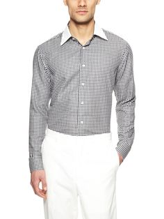 Check Dress Shirt by Lorenzini at Gilt