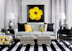 Black and White Living Room Decorating Ideas . √ 28 Black and White Living Room Decorating Ideas . 48 Black and White Living Room Ideas Decoholic White Living Room Decor, Living Room Furniture Inspiration, Home Decor, Room Inspiration, Living Room Grey, Black Living Room, Living Decor, Living Room Decor Yellow And Grey, Yellow Decor Living Room