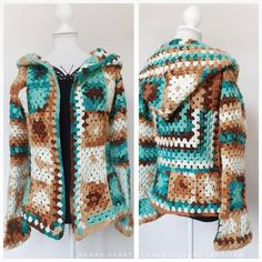 Crochet Vest Pattern, Crochet Coat, Crochet Jacket, Crochet Cardigan, Crochet Clothes, Diy Clothes, Boho Crochet Patterns, Hippie Crochet, Granny Square Sweater