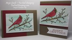 Beauty of The Season Watercolor Cardinal
