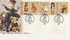Dolls And Bears: Australia 1997 Dolls And Bears Fdc (Camberwell, Vic) -> BUY IT NOW ONLY: $6 on eBay!