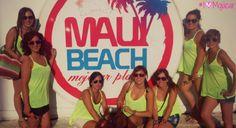 Con las chicas en Maui Beach