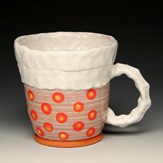"""Arthur Halvorsen Mug, 2015 Red Lodge Clay Center """"Seeing Red"""""""