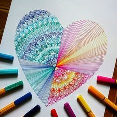 Drawing Doodles Ideas Wanting more love in your life? Drawing a heart is way to 'call' it, too. Mandala Art, Mandala Drawing, Mandala Doodle, Doodle Patterns, Zentangle Patterns, Doodles Zentangles, Zentangle Art Ideas, Zentangle Pens, Doodle Drawings