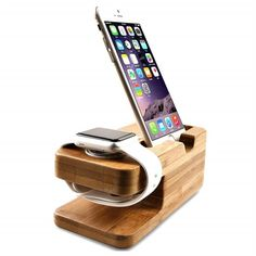 KEY DETAILS - Charging dock holds for Apple Watch and for iPhone / Smartphone at a comfortable angle. It can hold for Apple fitness Watch plus it can hold for iPhone nicely. Compatible with all version of the Watch and and for iPhone 5 / / 6 / / / Plus. Apple Watch Phone, Iphone Watch, Iphone 5s, Android Watch, Apple Iphone, Diy Phone Stand, Desk Phone Holder, Iphone Holder, Smartwatch
