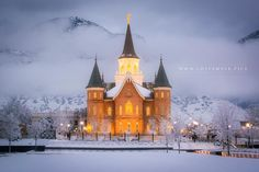 The new Provo City Center Temple Winter Night | LDS Temple Pics
