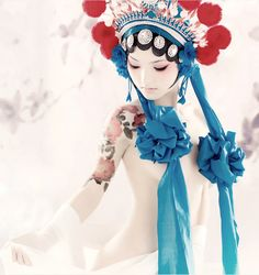 【美しすぎる】京劇とボディ・ペインティングの融合「盤子女人坊 (盘子女人坊