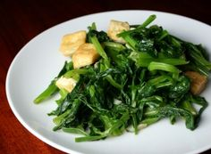 Sauteed Pea Shoots with Garlic | AsianSupper