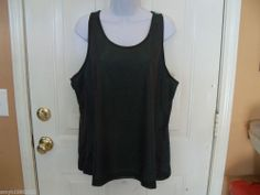 Danskin Reversible Gray Stone & Green  Mesh Tank Size XXL (20) Ladies NEW   #Danskin #ShirtsTops