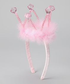 Another great find on #zulily! Pink Crown Headband #zulilyfinds