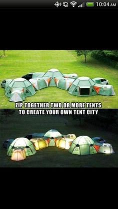 It would be my kingdom... I would have different tents for different things like a book tent, movie tent, board games tent, etc.