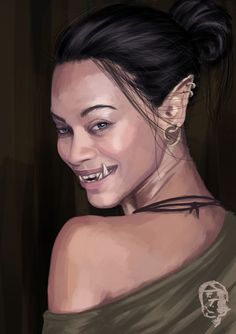 f Half Orc portrait © Quintin Harlich (Franziska Totzke Fantasy Warrior, Fantasy Rpg, Dark Fantasy, Female Character Concept, Character Art, Female Half Orc, Rpg Pathfinder, Shadowrun Rpg, Mileena