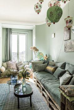 ATELIER RUE VERTE , le blog: Paris / Un appartement lumineux, féminin et éclectique /