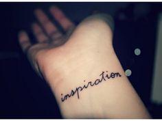 inspirational; font #tattoo #font #wrist