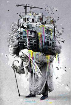 by Graphic designer, Art Director Simo Mouhim in Casablanca, Morocco. Graffiti Art, Graffiti Images, Best Graffiti, Street Art Utopia, Protest Art, Interactive Art, Dope Art, 2d Art, Orient