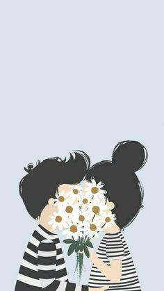 Imagem de love, flowers, and couple