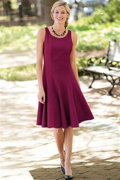 Fit-And-Flare-Sleeveless-Dress