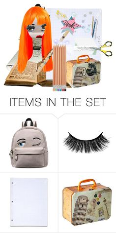 """""""magiback to school"""" by zeepanda ❤ liked on Polyvore featuring art"""