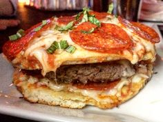Hamburger Pizzan recipe | Rise of the Pizza Burger - The Grayson, the Baroness Bar, and ...