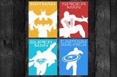 Poster Size PRINTABLE Superhero Pose Wall Art by OurSecretPlace, $12.99