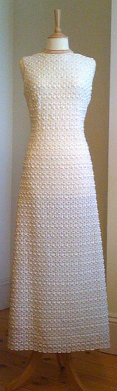 Unforgettable Vintage Wedding Gowns found this great 1960′s crochet wedding dress.