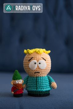 Butters and Gnome from 'South Park', amigurumi toy by AradiyaToys